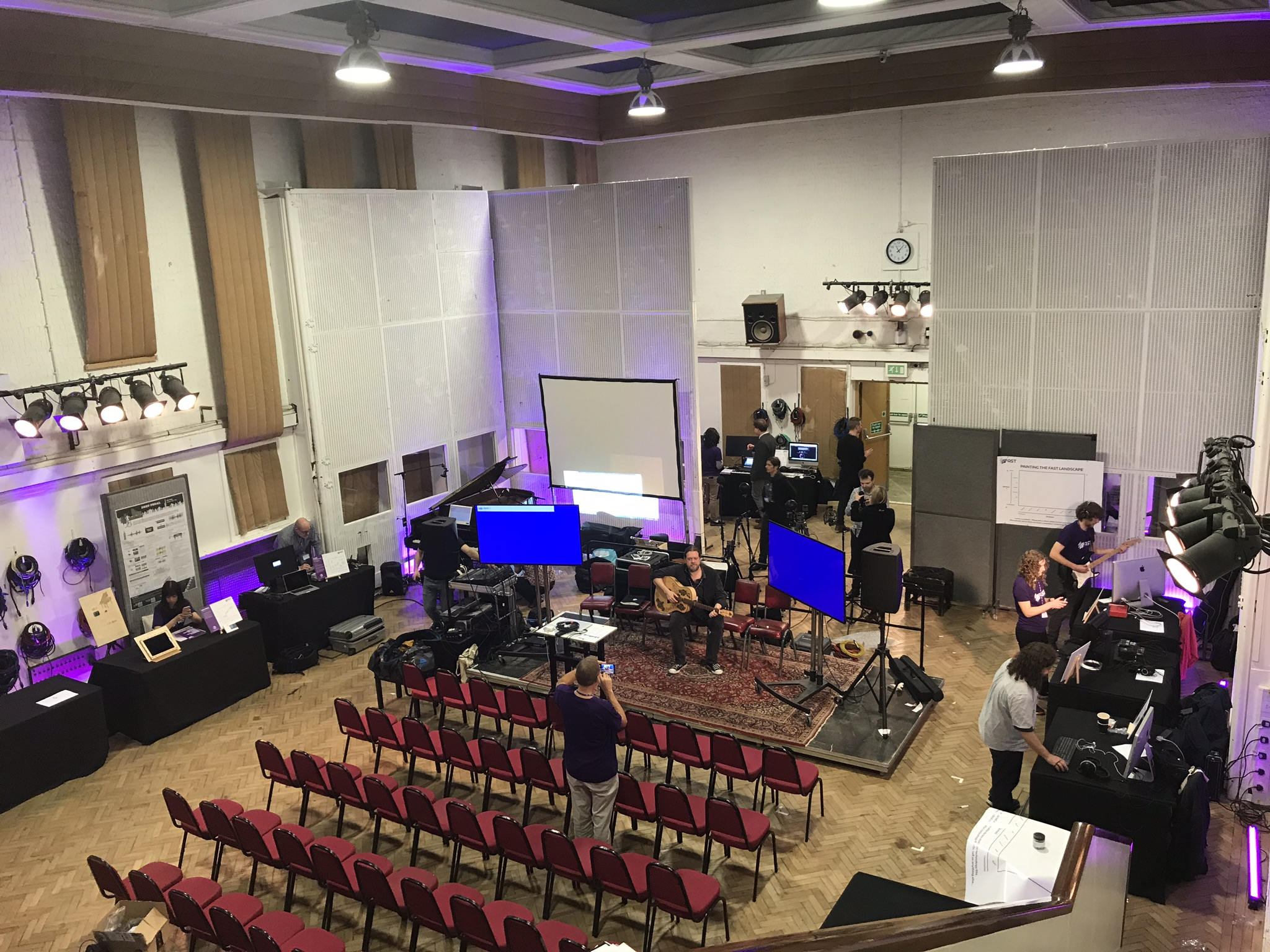 Fast Industry Day setting up in Abbey Road Studio 2.