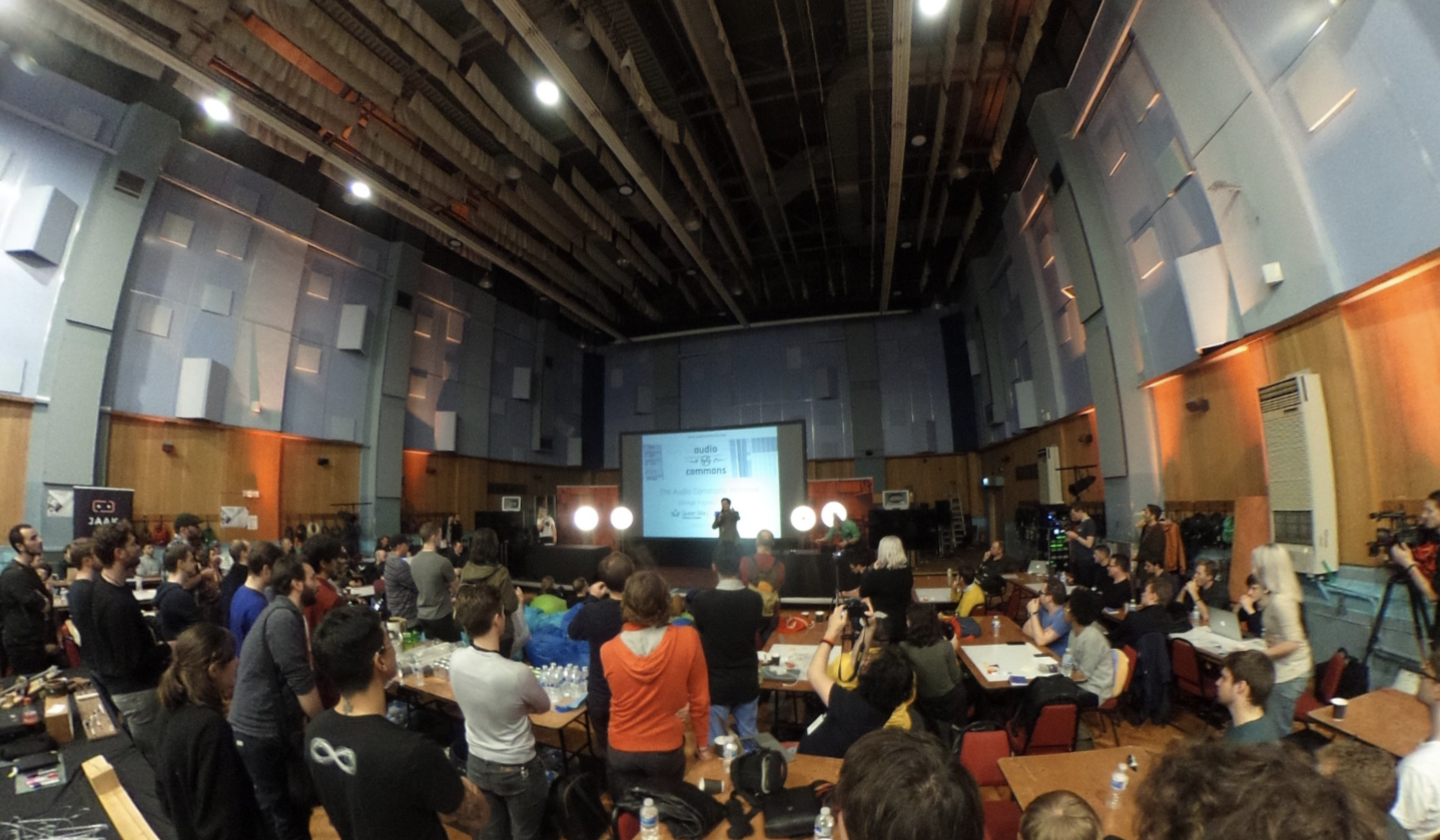 The Audio Commons presentation captured with a 360 camera.